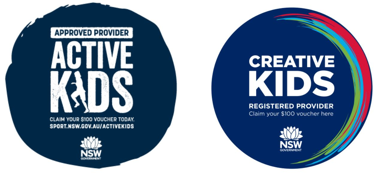 Active Kids and Creative Kids Logos